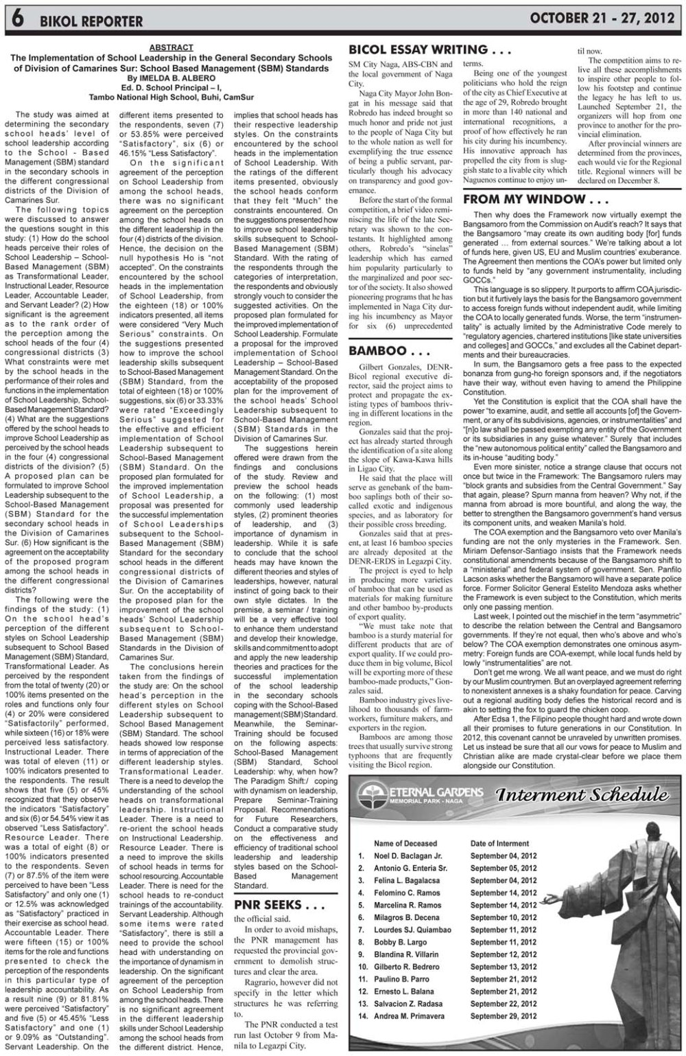 bikol reporter newspaper naga city camsur